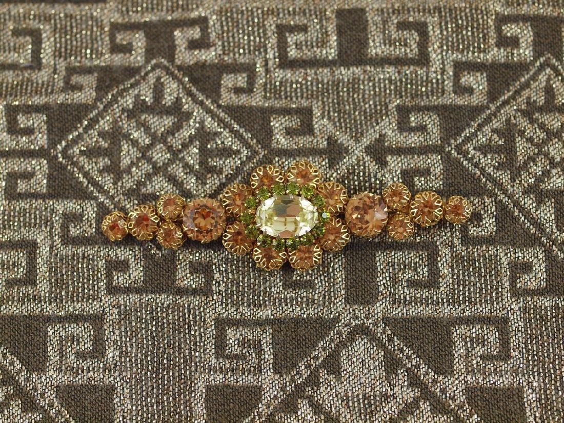 Vintage Decorated Crystal Brooch