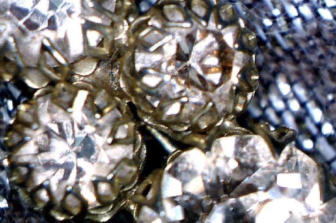 Vintage Decorated Crystal Brooch - 2