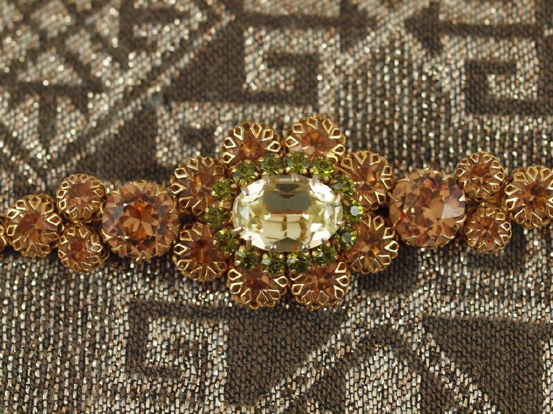 Vintage Decorated Crystal Brooch - 6
