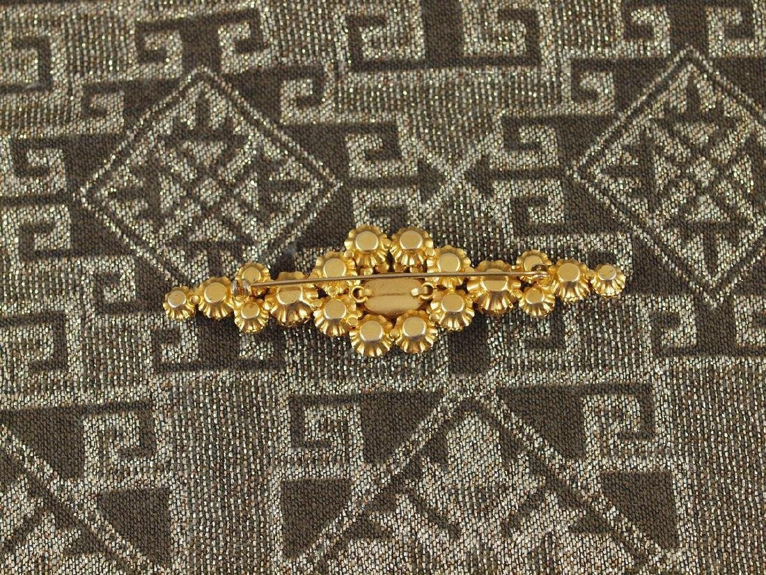Vintage Decorated Crystal Brooch - 7