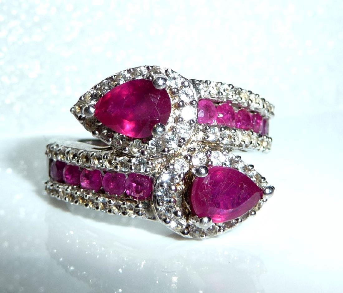 Harry Ivens IV Sterling Silver Ruby Topaz Ring, 4.5ctw