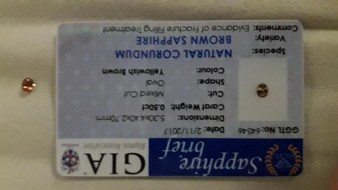 0.50 Carat Loose Ceylon Sapphire, GIA - 3
