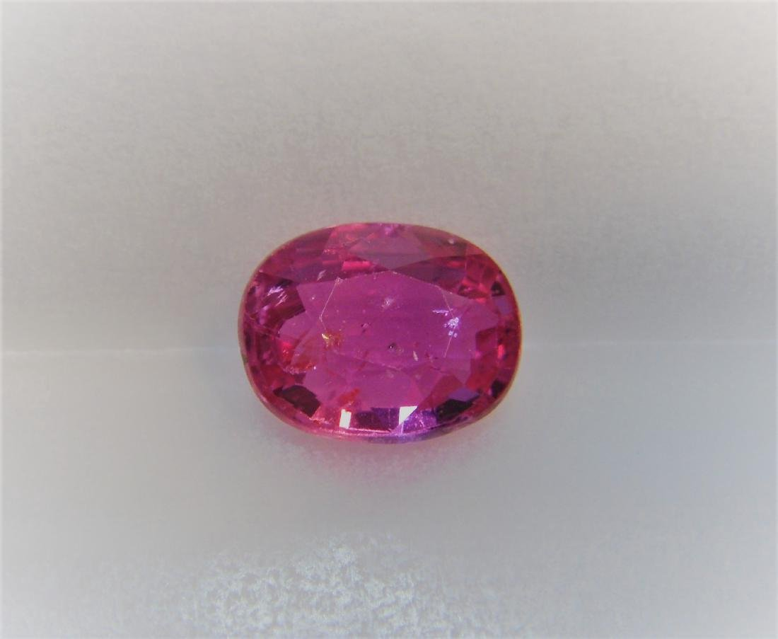 1.24 Carat Loose Pink Sapphire Unheated Certified