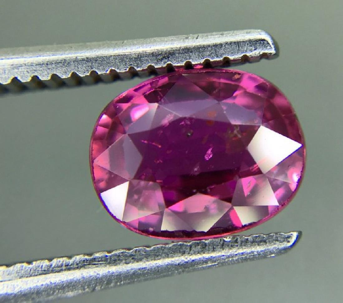 1.24 Carat Loose Pink Sapphire Unheated Certified - 4
