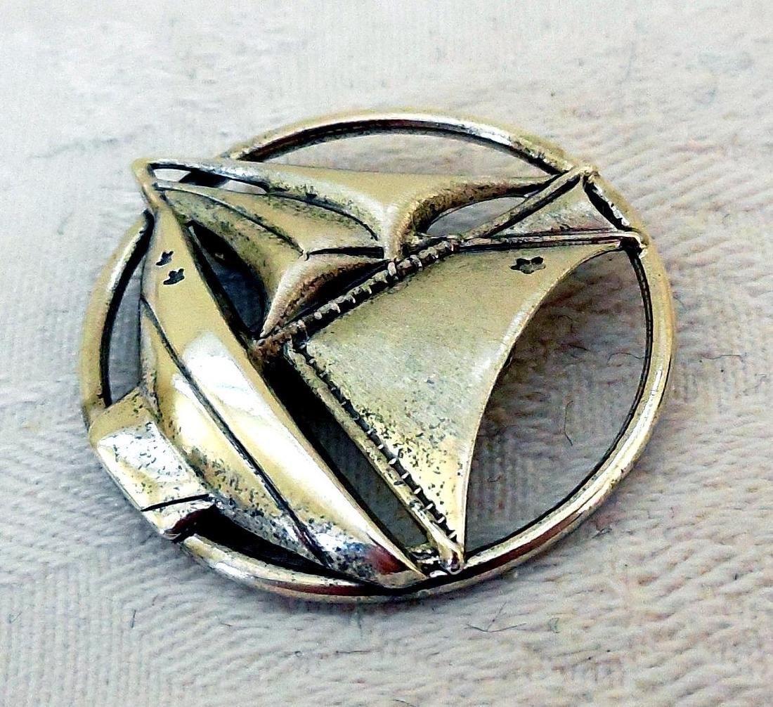 Vintage Sterling Silver Sailboat Pin Brooch - 3