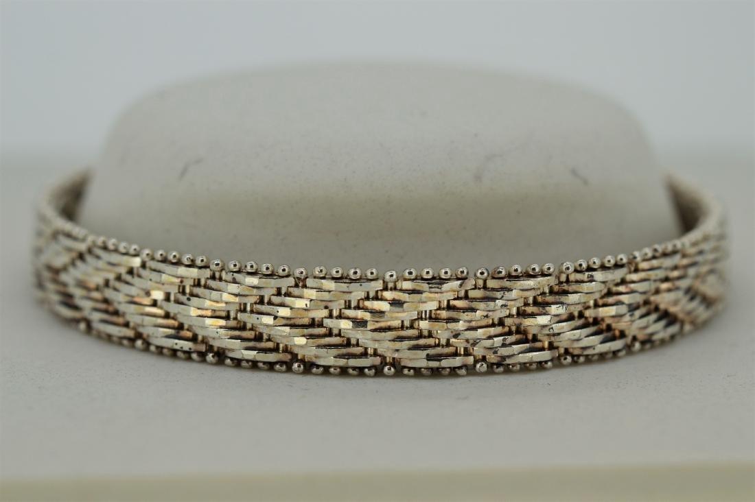 Vintage Sterling Silver Riccio Herringbone Bracelet