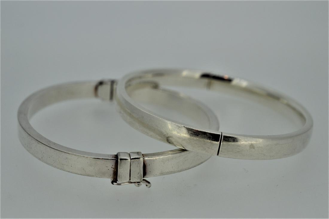 Pair of Milor Sterling Silver Bangle Bracelets