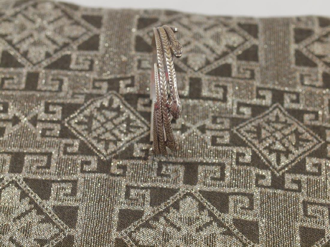 Rigid Silver Art Deco Seven Snakes Bracelet - 4