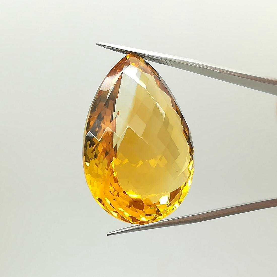 40.17 Carat Loose Citrine Quartz Pear Cut - 3