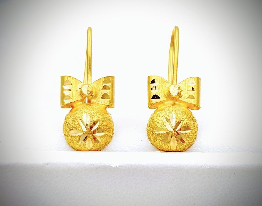 21K Gold Earrings