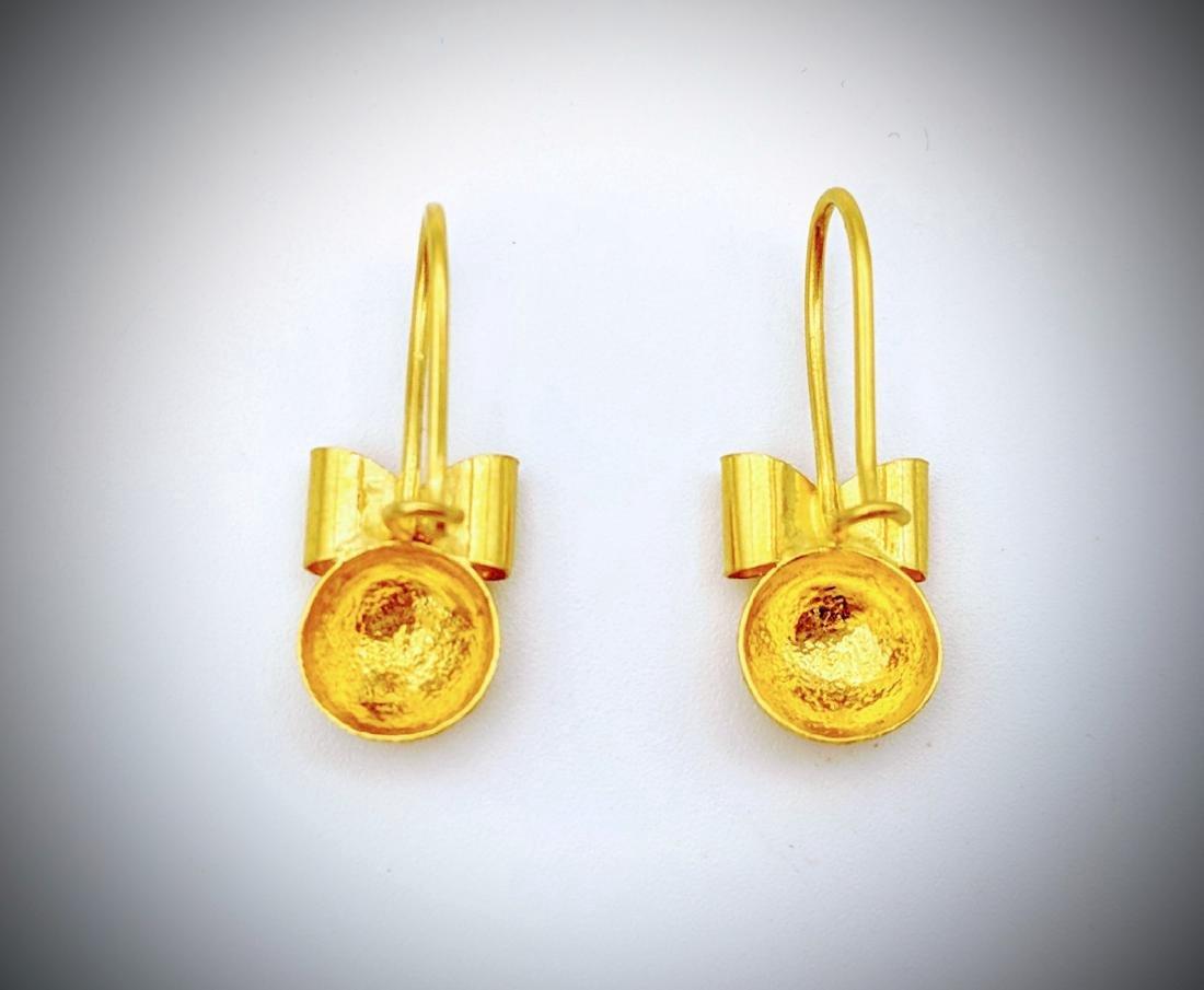 21K Gold Earrings - 2