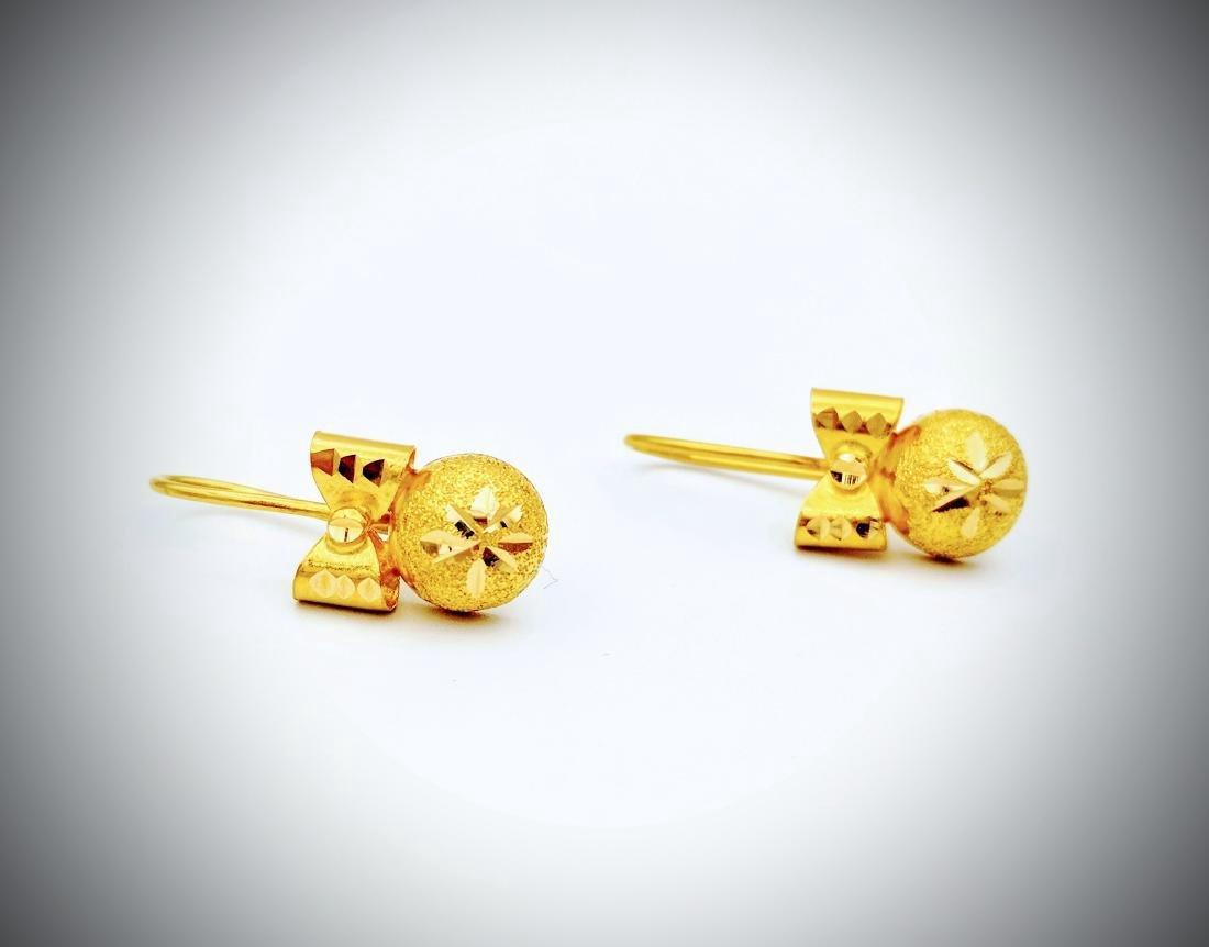21K Gold Earrings - 3