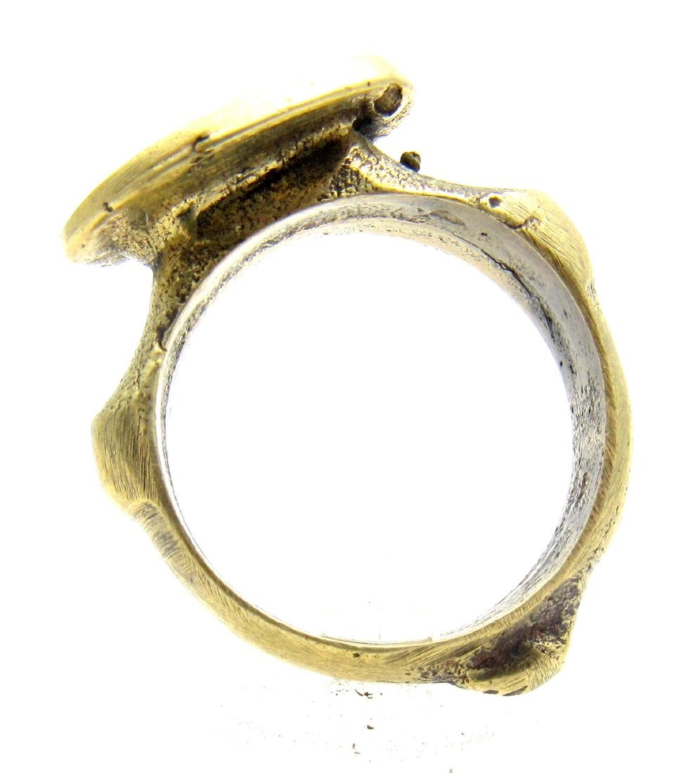 Post Medieval Ring with Ancient Greek Figure on Bezel - 4