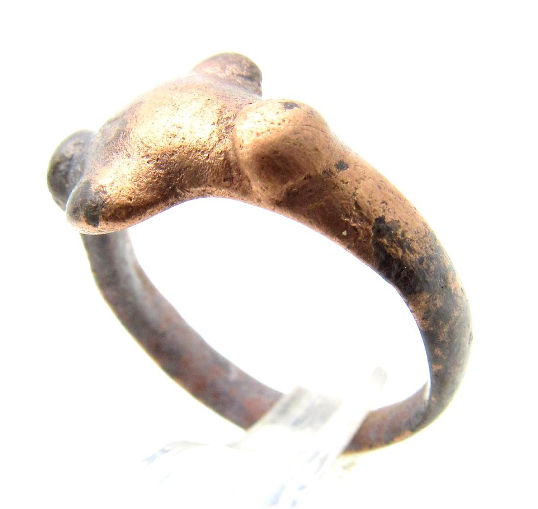 Medieval Viking Ring with Cross Shaped Bezel. - 2