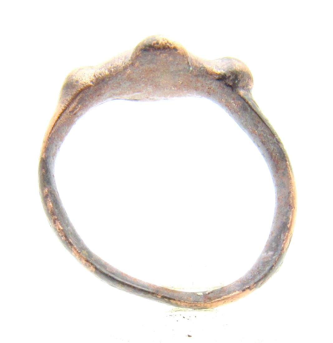 Medieval Viking Ring with Cross Shaped Bezel. - 3