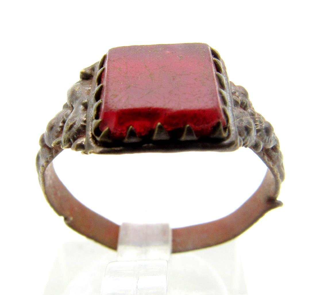 Late Medieval Ring with Red Stone