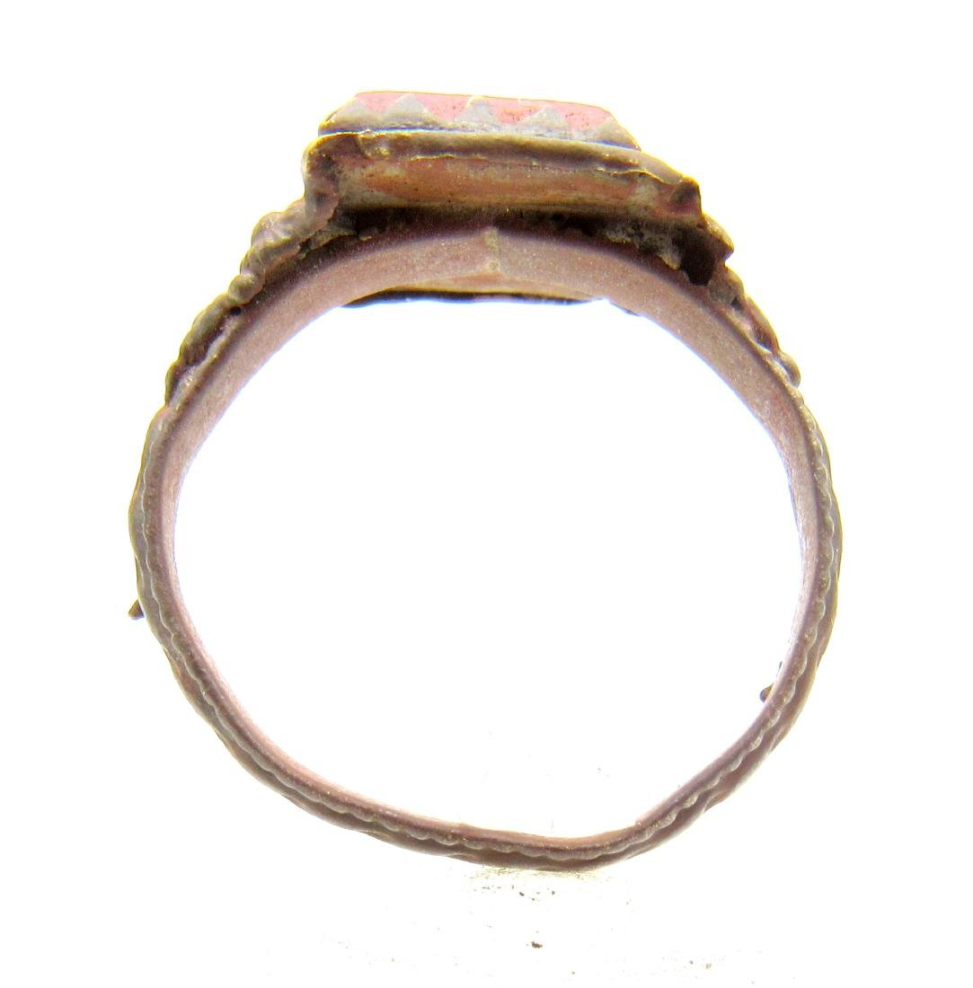 Late Medieval Ring with Red Stone - 3
