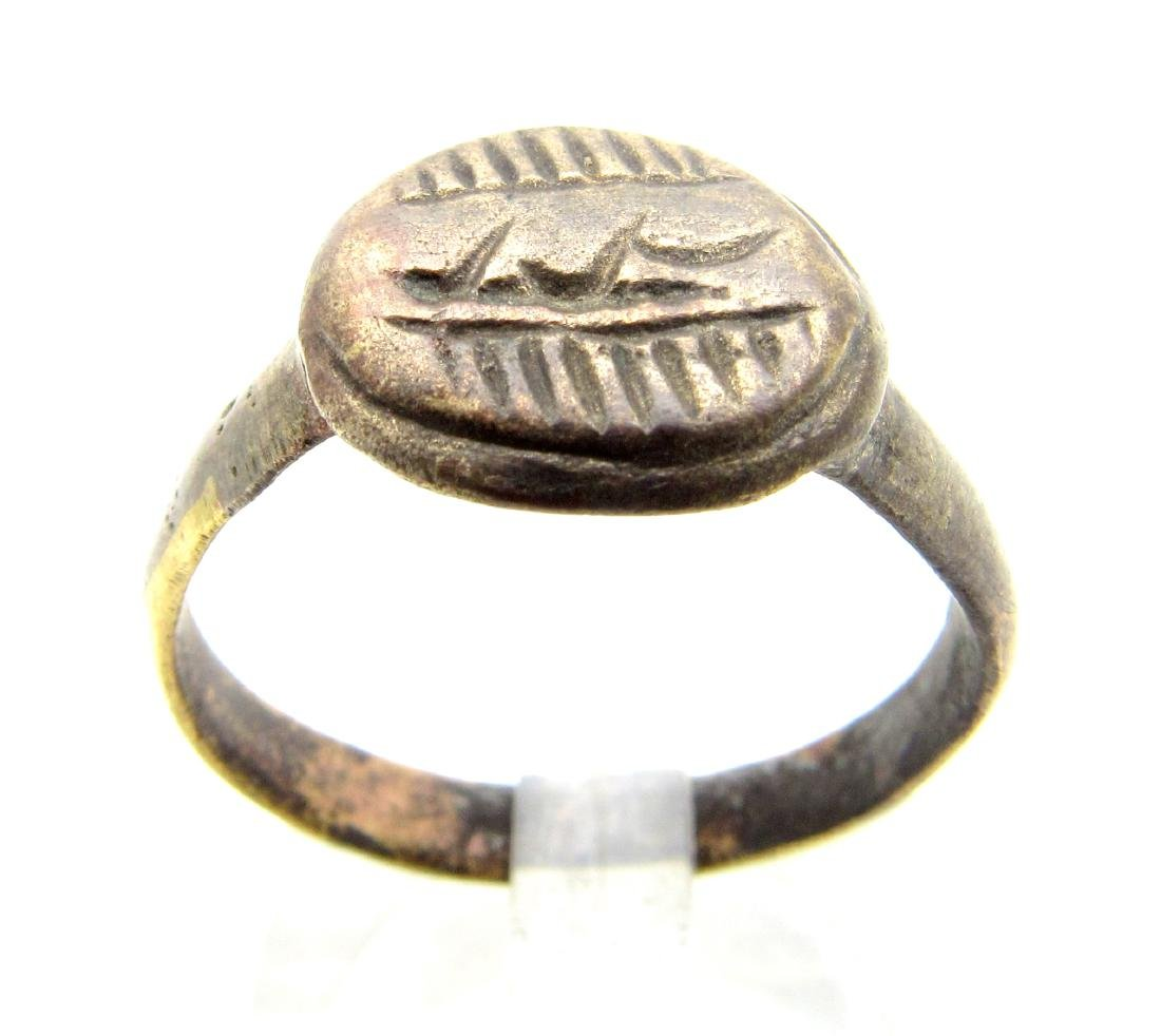 Medeival Crusaders Ring with Arabic Script on Bezel