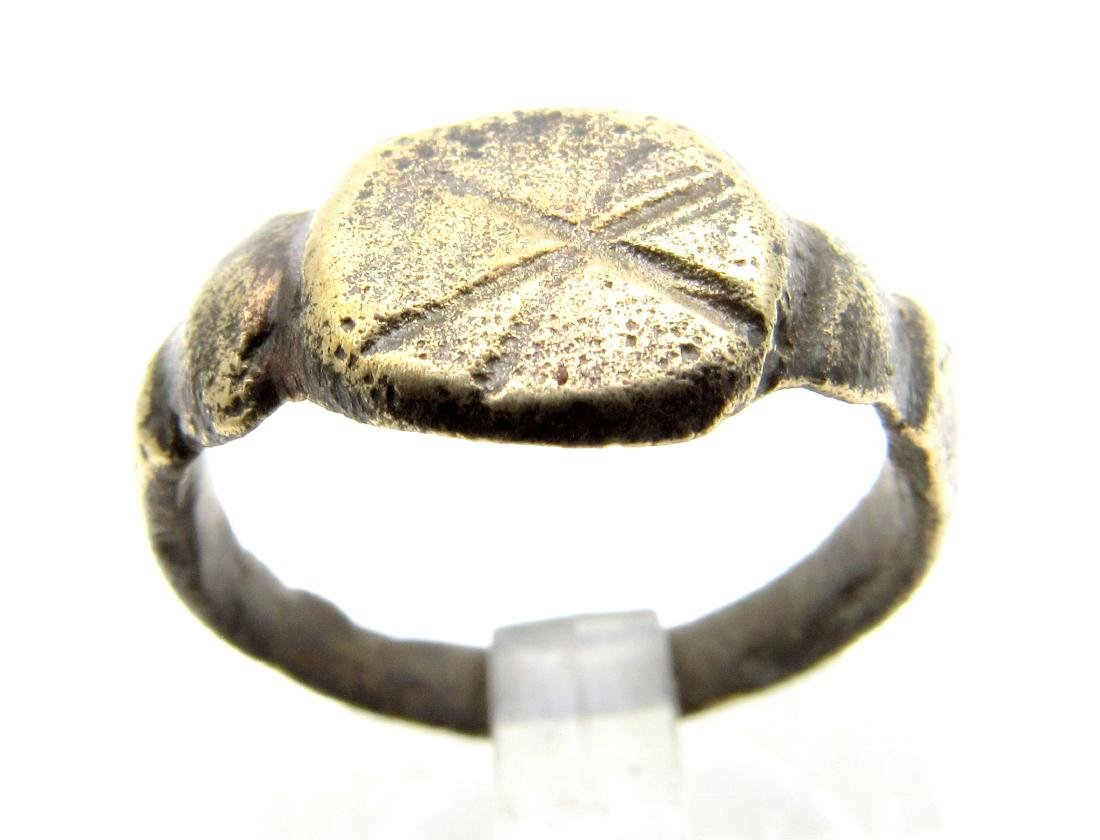 "Ancient Roman Legionary Ring with an ""X"" on the Bezel"