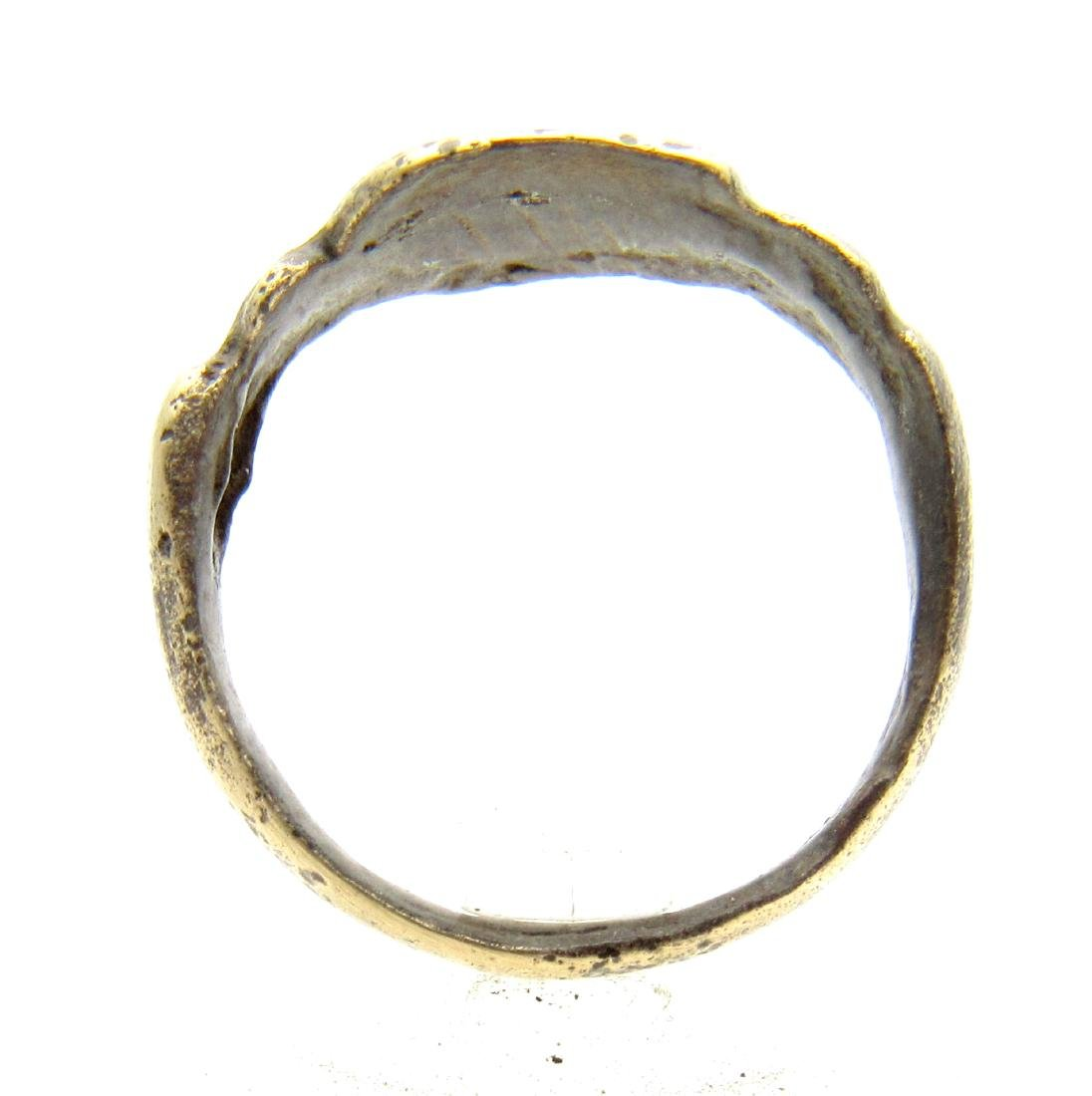 "Ancient Roman Legionary Ring with an ""X"" on the Bezel - 3"