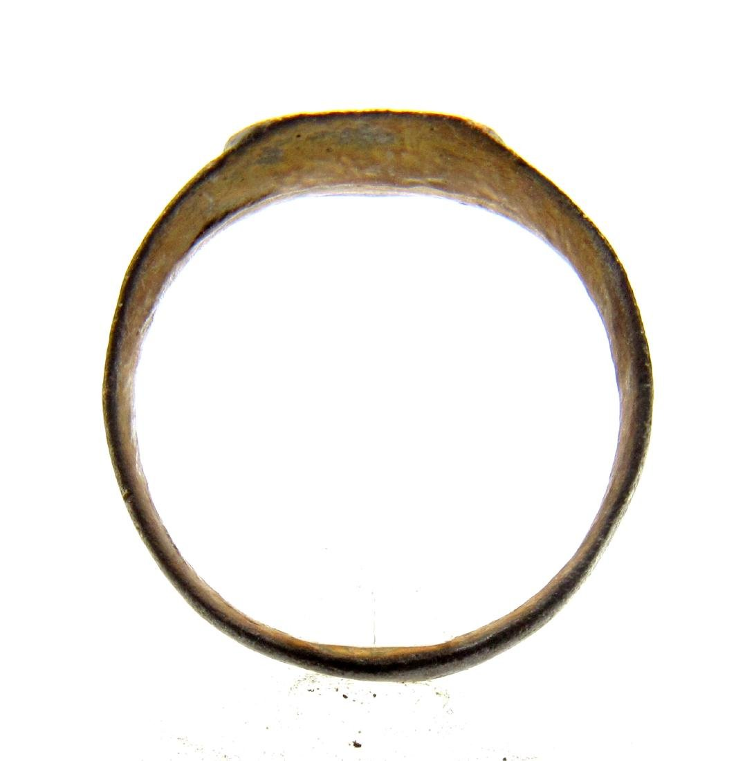 Medieval Viking Ring with Decorated Bezel - 3