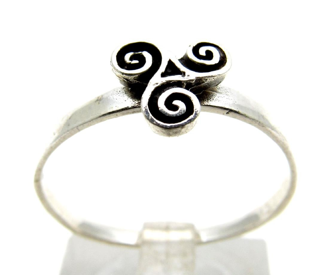 Vintage Silver Ring with Triskele on Bezel (celtic