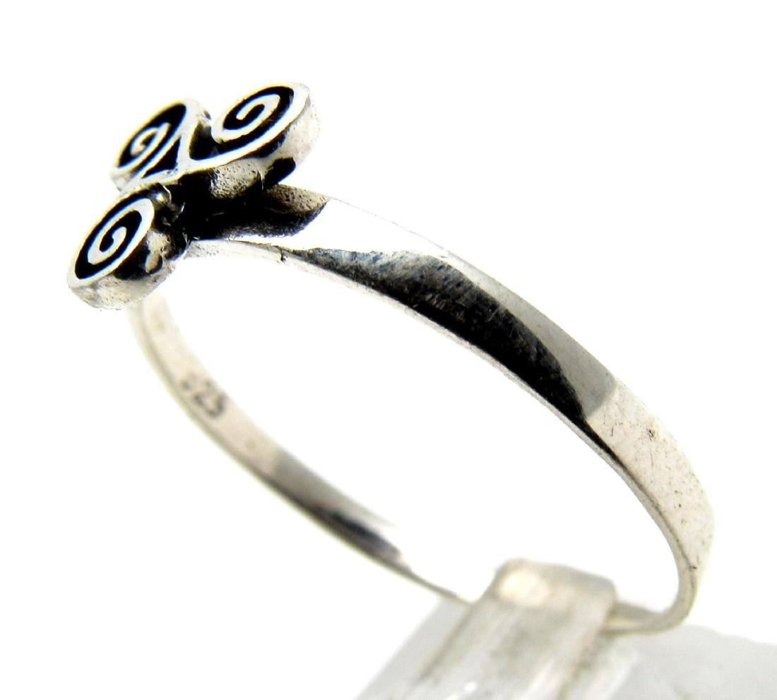 Vintage Silver Ring with Triskele on Bezel (celtic - 2