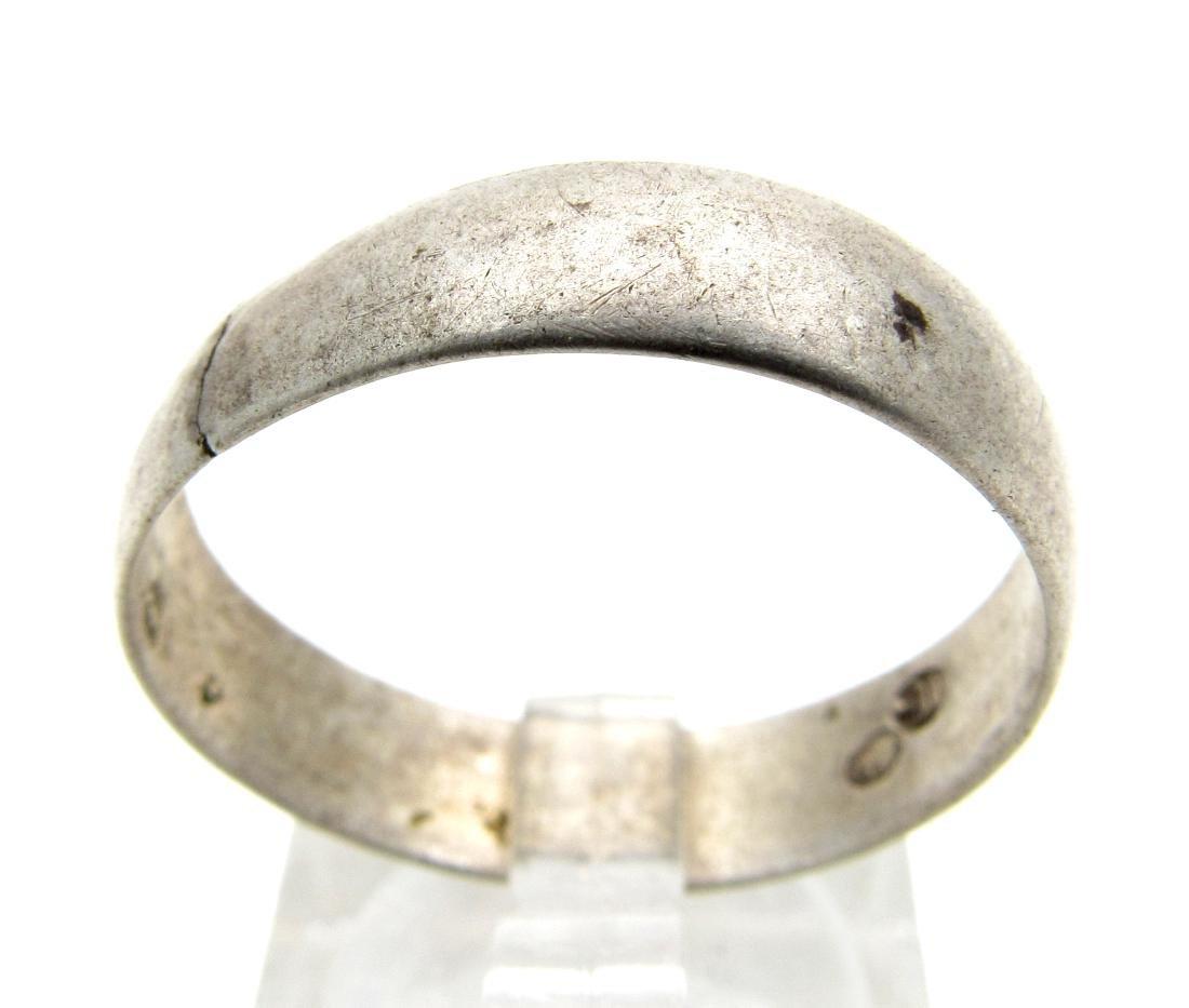 Post Medieval Silver Hallmarked Wedding Band