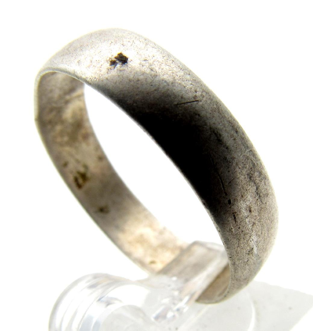 Post Medieval Silver Hallmarked Wedding Band - 2