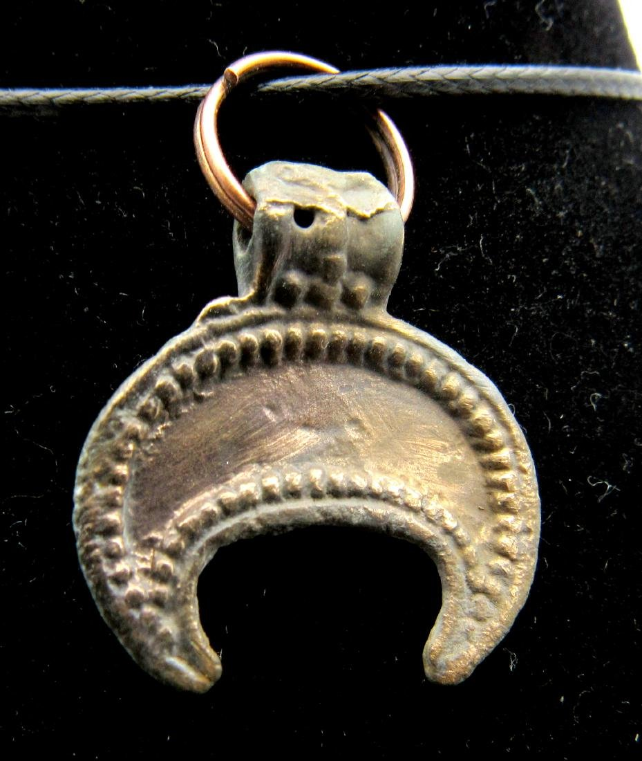 Medieval Viking Lunar Pendant