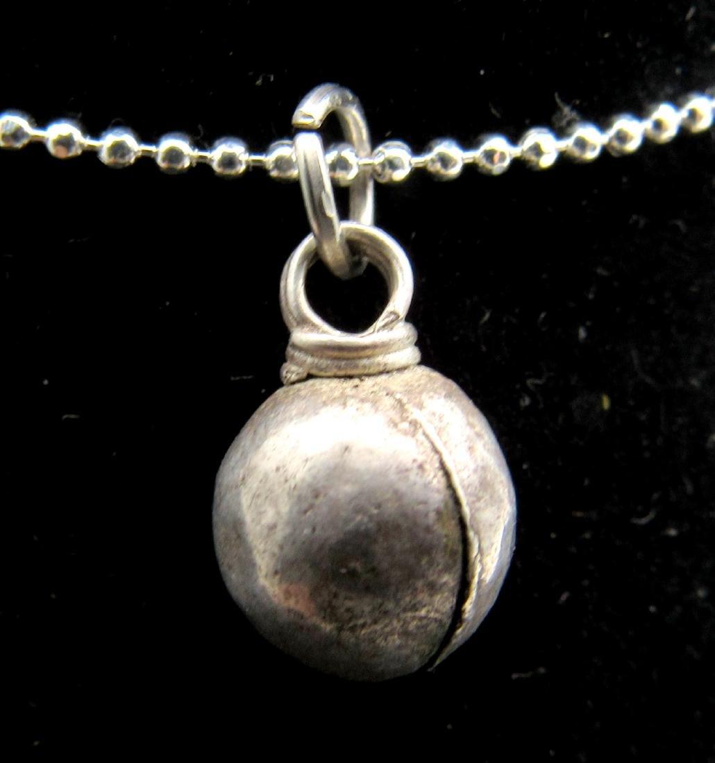 Medieval Viking Silver Orb Pendant