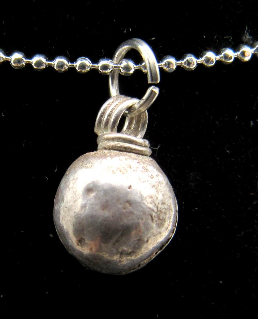 Medieval Viking Silver Orb Pendant - 2