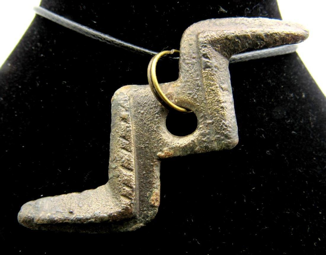 """Medieval Viking """"Thunderbolt of God"""" Thor Pendant"""