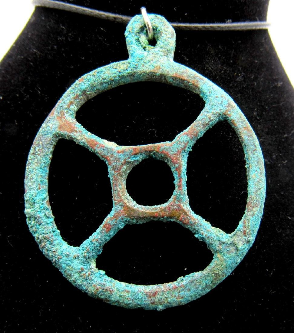 Ancient Roman Wheel of Fortune Pendant
