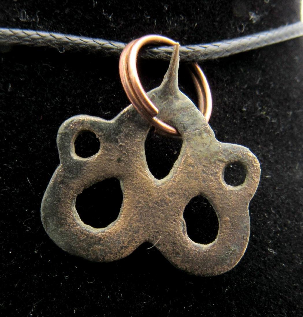 Medieval Viking Interlaced Open-Work Snake Pendant - 2