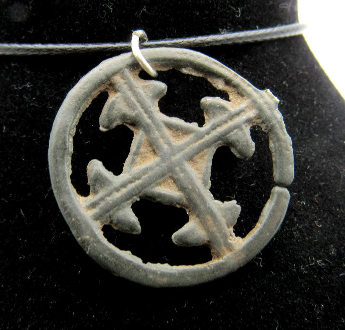 Medieval Crusaders Open-Work Cross Pendant