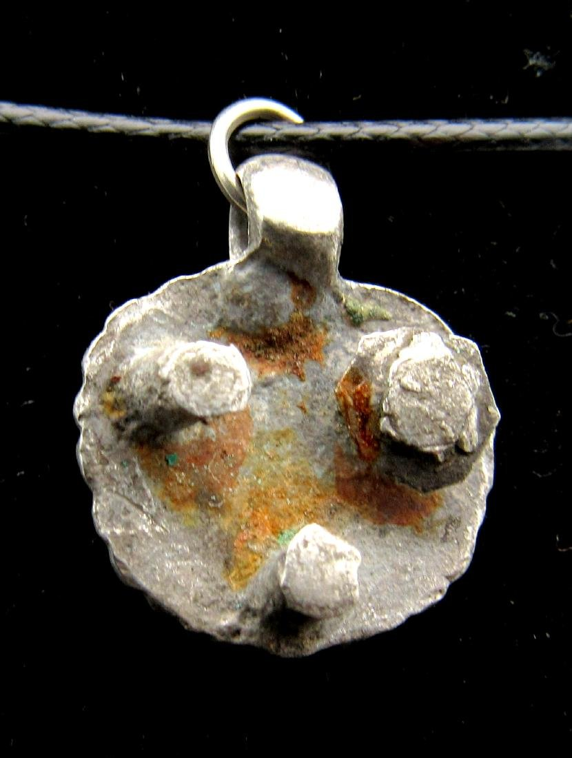 Medieval Silver Viking Owl Pendant - 2