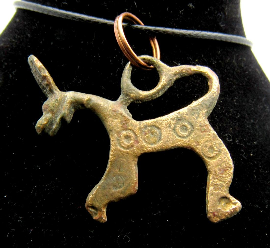 Medieval Viking Dragon Fafnir Pendant with Evil's Eye - 2