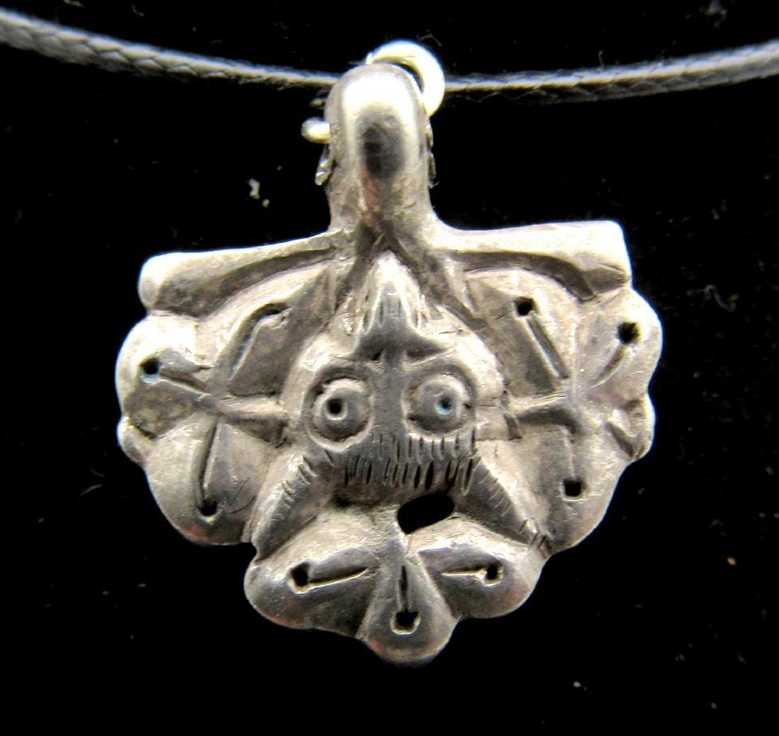 Medieval Viking Silver Griffon Pendant