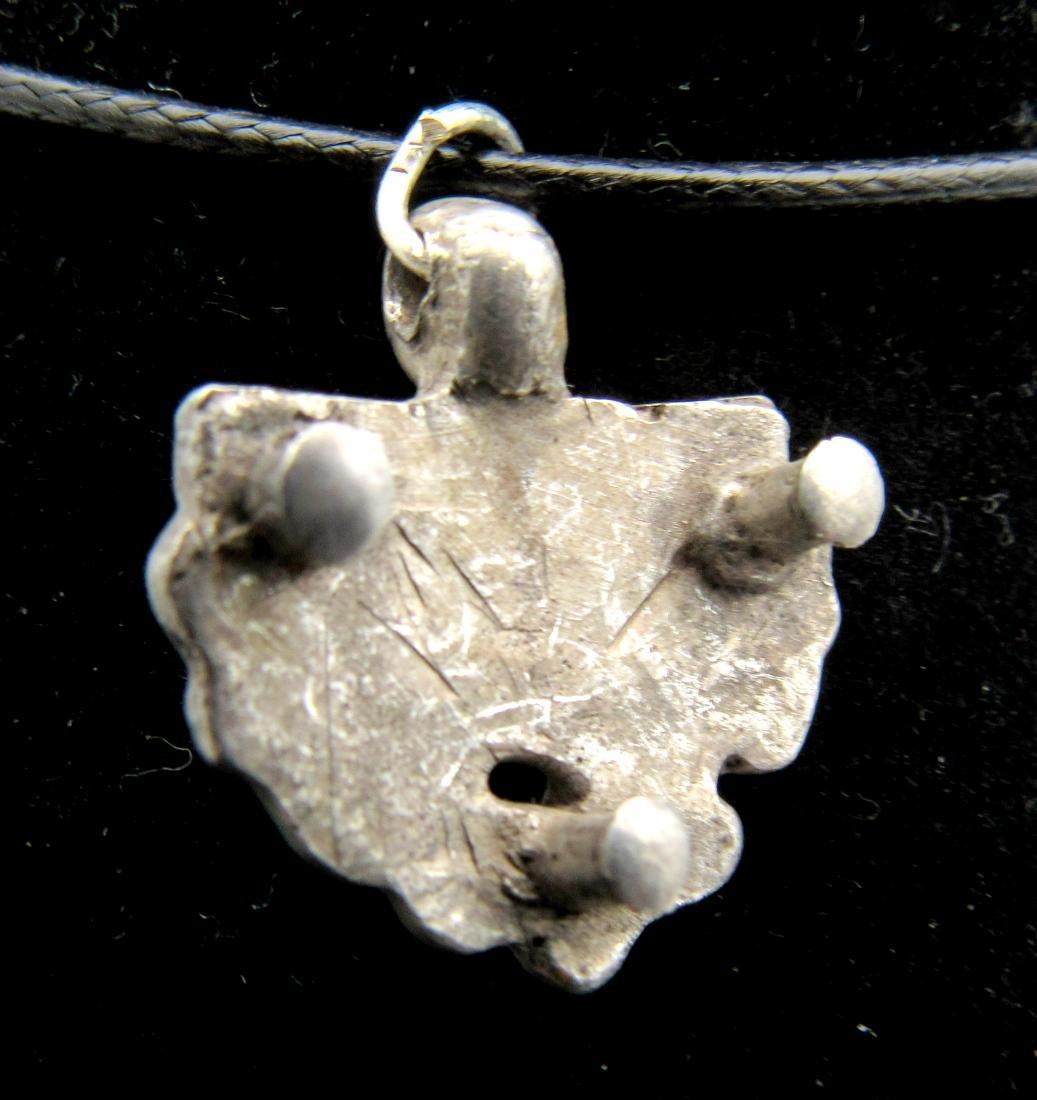 Medieval Viking Silver Griffon Pendant - 2