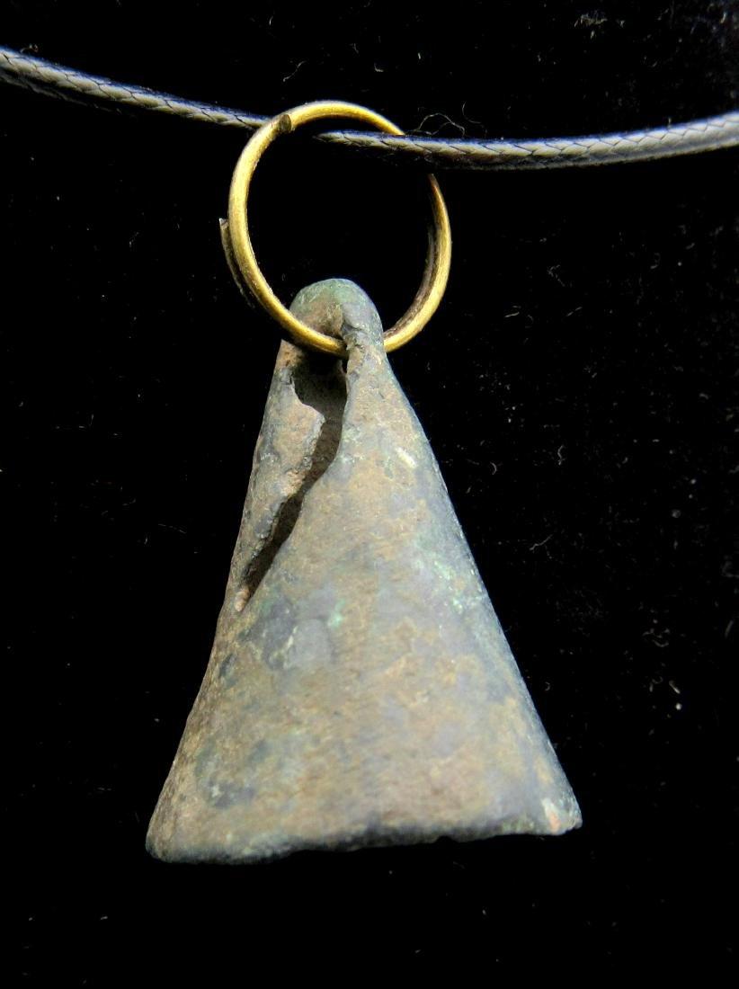 Ancient Celtic Bronze Bell Pendant