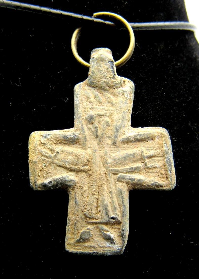 Medieval Pilgrim's Lead Cross Pendant