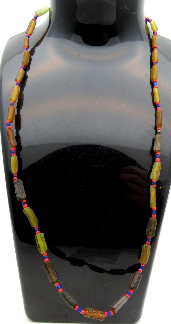 Medieval Viking Glass Beaded Necklace