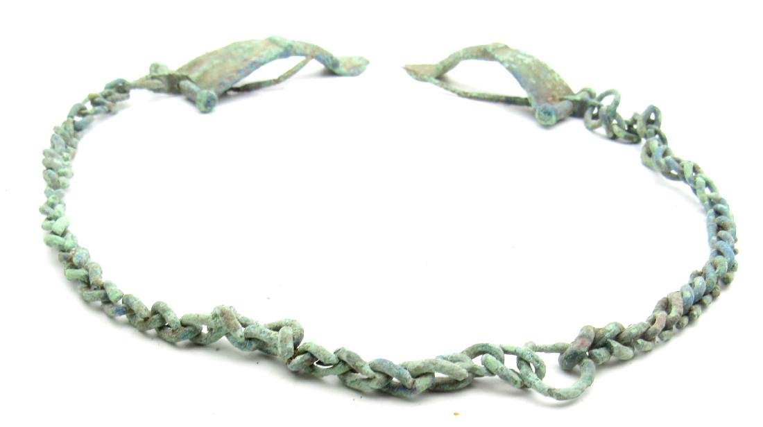 Ancient Roman Bow Brooches Attached by Chain for Togas - 2