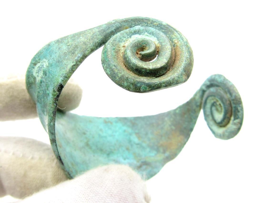 Medieval Viking Bronze Bracelet with Coils - 2