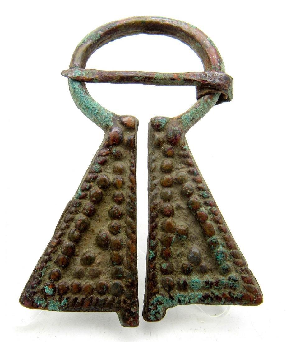 Medieval Viking Penannular Omega Brooches