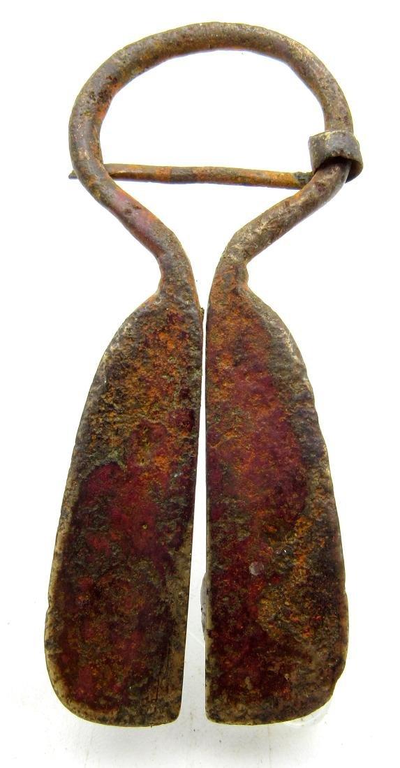 Medieval Viking Penannular Omega Brooches - 2