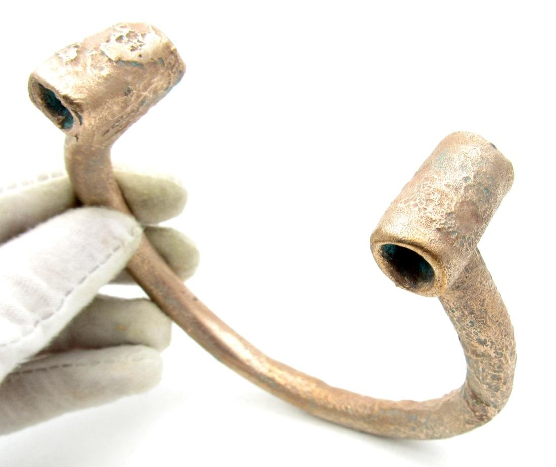 Medieval Viking Arm-Ring with Coiled Terminals - 2