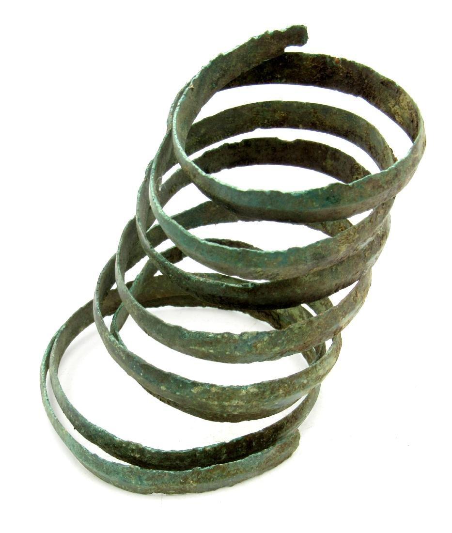 Medieval Viking Coiled Snake Bracelet