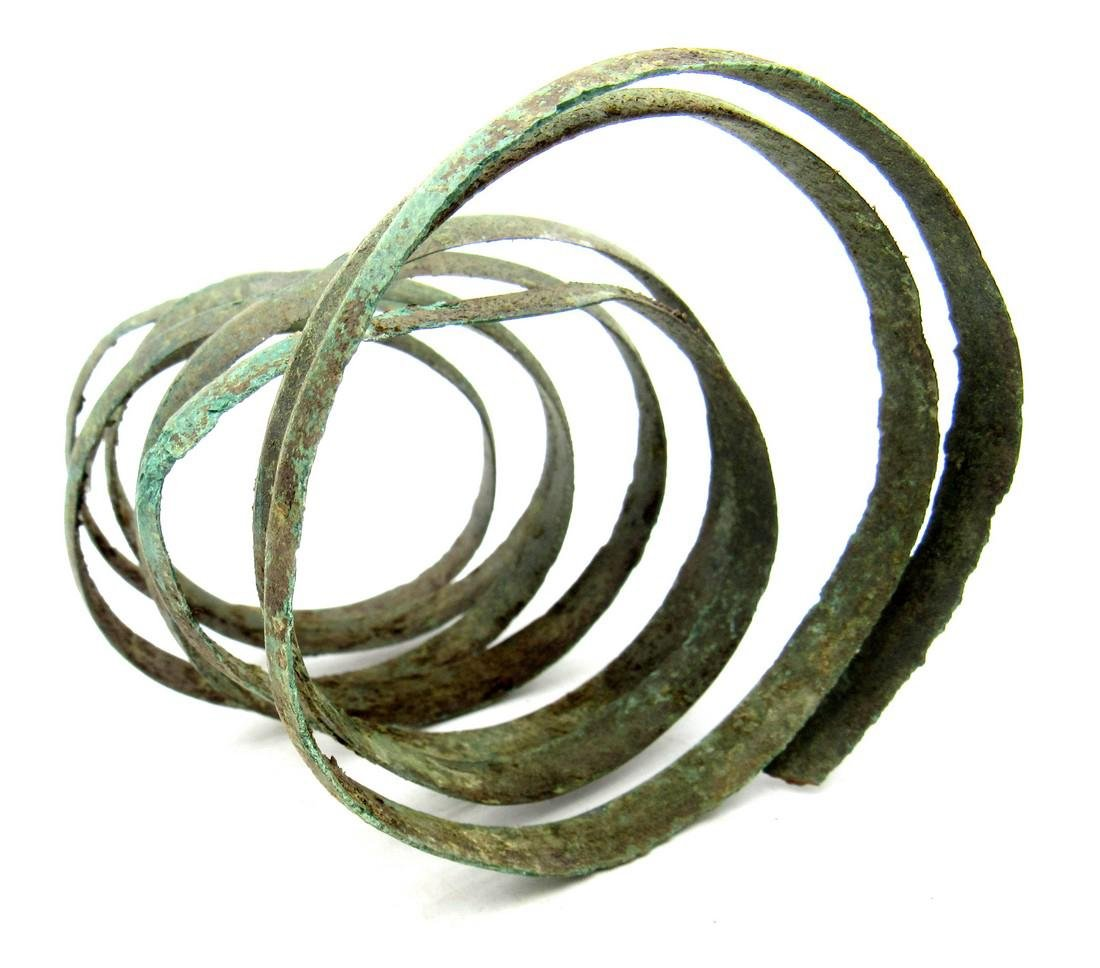Medieval Viking Coiled Snake Bracelet - 3